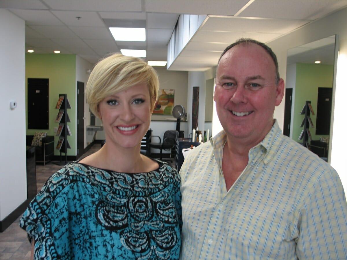 Elizabeth Parker and Lynn Groff of Salon Aria.