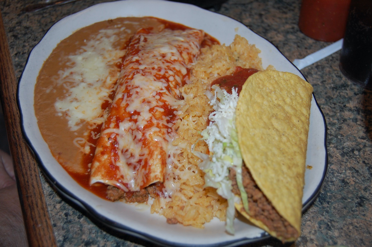 Traditional mexican burrito the image for Authentic mexican cuisine