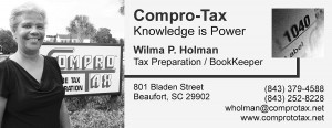 Wilma Holman owns H&H Compro Tax Beaufort.