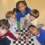 Chess team members pictured (left to right): Thomas Mazzeo, Whit Suber, Kendra Rogers, Jack McDougall and Kevin Rogers.
