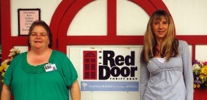 The Red Door, a consignment shop located at 1100 Ribaut Road, is the largest fundraiser for Friends of Caroline Hospice for 2012, raising $91,000 in 2012 with its consignment sales. Pictured are Kelly Cranfill and Dell Villemaire,  co-managers of the store.