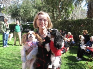 Pam Taub and her furry friends