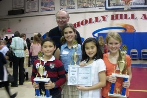 St. Peter's Catholic School students recently distinguished themselves at the South Carolina Independent School Association Literary Meet. Competing against 35 schools from across the state, St. Peter's was the only elementary school to earn first place trophies in three events.