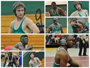 Top left: Trey Arant, 4A Lower State Champion, three time state qualifier and South Team All Star. Four pictures on the top right, starting in the middle and going clockwise: Tyler Wilson, 2 time State Qualifier and South Team All Star; Forrest Kimbrell, 2 time State Qualifier; Michael Holmes, State Qualifier; Codrian Smalls, State Qualifier and South Team All Star. Bottom right: Clint Wright, 4A Lower State Champion, 3 time state qualifier & South Team All Star. Three pictures on Bottom left, starting at the top long picture and moving clock wise Kentrell Seabrook, State Qualifier; Jake Sharp, State Qualifier; William Spann, State Qualifier.