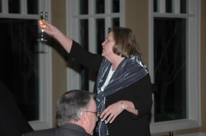 Clarece Walker during the champagne toast at her retirement party from head of United Way of the Lowcountry.