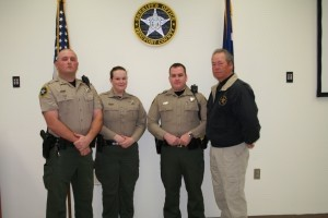 The Beaufort County Sheriff's Office wishes to congratulate the following personnel in recognition of their achievement and dedication. Effective as of the Monday, March 4, 2013 ceremony, the following Sheriff's Office staff has been promoted: James Cooler to Corporal; David Murphy to Corporal; and Cynthia Payne to Corporal.