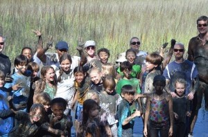Students from E. C. Montessori & Grade School visit the mud pit during their annual field trip to Barrier Island on Seabrook last week.  The Barrier Island Environmental Education Program has provided public and private school students in kindergarten through 12th grades a unique opportunity to learn about and experience nature in a way that is hands-on, memorable and a whole lot of fun.