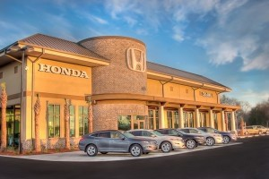 The new Stokes Honda of Beaufort building, by Captured Moments Photography.