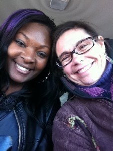 """Right: """"American Idol"""" contestant and St. Helena Island native Candice Glover is seen with the author, Shana Hirsch."""