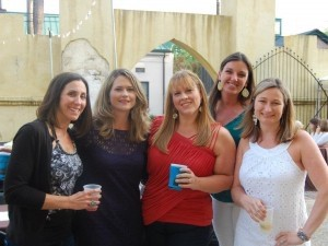 JSLB members Jennifer Wallace Sarathy, Amy Geier, Mary Lohr, Kasey Myers, and Kristin Bendle at the 2012 BBQ.