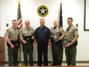 The Beaufort County Sheriff's Office wishes to congratulate the following personnel in recognition of their achievement and dedication. Effective as of the Monday, April 15, ceremony, the following Sheriff's Office staff has been promoted: James Padgett, Corporal; Scott Logan, Patrolman First Class; Joshua Scheemaker, Patrolman First Class; and Kyle Breland, Patrolman First Class.