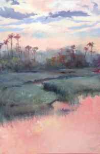 """""""Palmetto Island Sunset"""" is from the I Pinckney Simons Gallery."""