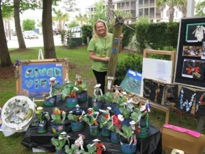 Artwork made from materials gathered during Riverview Charter School's Spring Service Learning Project was showcased on Friday at the Habersham Earth Day Festival. Thank you to Visual Arts Teacher Ms. Katz for her beautiful display of student art work.