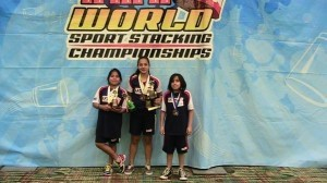 Three Lady's Island  residents and members of  USA Sport Stacking took part  in the World Sport Stacking  Championships in Orlando, Florida  on April 6-7. Molly Smith had two thirds  and one fourth place finish in 9-10 girls and Anna Smith had a second, a third and a ninth in 13-14 girls.  Molly and her brother Eli placed third at 10U doubles. During the Stack of Champions, Anna set a new Girls' Overall World Record in the 3-6-3 with a time of 2.237 seconds.