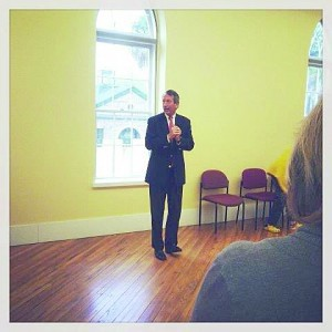 Mark Sanford speaks at The Arsenal in Beaufort during his campaign for the First Congressional District seat.