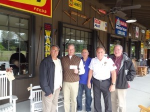 A check was presented to Sheriff PJ Tanner from the Lowcountry Retired Law Enforcement Officers Association. Pictured from left is Norm Whyte, Sheriff PJ Tanner, John Pontillo, Bert Defazo and Jim Fitzgerald.