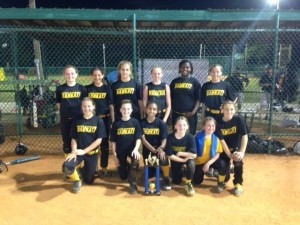The 12 under girls Badkatz softball team placed third in the World Fastpitch Connection Mother's Day Tournament in Sumter on May 11.