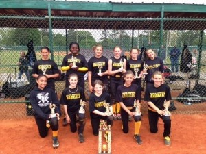 The 12 under girls Badkatz softball team placed third out of 13 teams in the World Fastpitch Connection Spring World Series in Sumter on April 26-28. Cheyenne Strong hit her first career home run.
