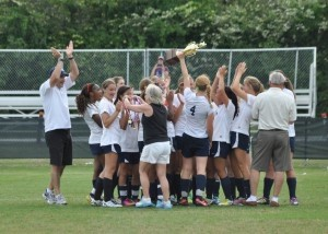 Coached by David Byrne, the Beaufort Academy Girls Varsity Soccer Team beat Oakbrook Prep 6-1 to bring home the state title!