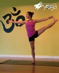 yoga pose of the week standing leg raise side  beaufort
