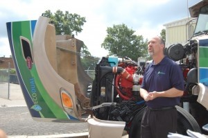 Doug Thompson, founding partner of EcoDual, describes how his company's dual fuel conversion system operates.