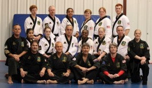 Mike Mobely is in the middle row, second from right, and Veronica McLeod is third from left. Rome Wallace is in the back row, far right.  Instructor Chuck Elias is in the front row, third from left.
