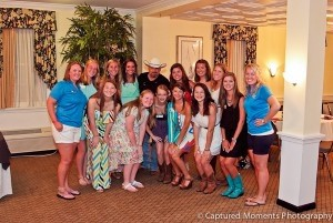 The Pirettes with musician Chris Cagle.