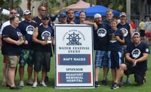 """First Place and Fastest Raft on the River Winners """"Pender Brothers"""""""