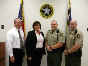 The Beaufort County Sheriff's Office wishes to congratulate the following personnel in recognition of their achievement and dedication. Effective as of the Monday, July 1, ceremony, the following Sheriff's Office staff has been promoted: Robert Tuten, Master Sergeant; Janice Shelton, Corporal; and Brian MacPhee, Lance Corporal.