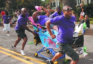 Best place to get wet and wild on a mattress: Bed Races