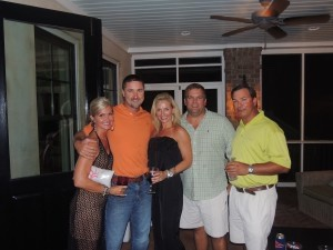 Sonya and Ronnie Reiselt, Kelly and Tommy Collins and Brian Harrelson