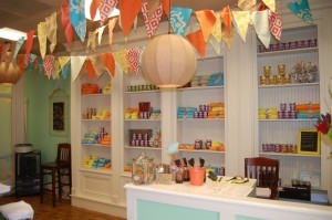 The decor at Burlap is whimsical and cheerful.
