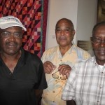 From left, brothers Willie Antley, Edward Bosticks and Moses Antley.