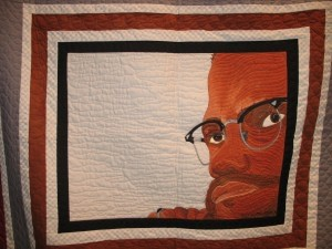 One of Bostick's pictorial quilts of famous African Americans.