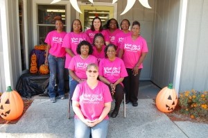 """The dedicated staff at Hobbit Hill in Shell Point is supporting breast cancer awareness and the search for a cure by wearing pink shirts that say """"Fight Like a Girl"""" during each Friday in October, Breast Cancer Awareness Month. Way to go, ladies!"""