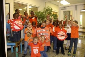 October 9 was  Unity Day. Lady's Island Elementary School students united against bullying by wearing orange to show that they will take a stand against bullies.