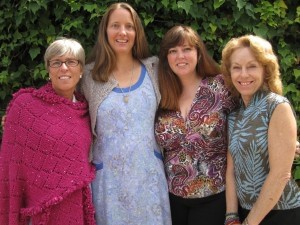 New members of the Fiber Artists of Beaufort, from left: Eileen Berchem, Laurie Lovell, Jada Gray and Cindy Male.