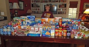 Beaufort Academy third grader Jack McDougall turned his birthday party into a canned food drive for HELP of Beaufort.  Jack asked his friends to bring canned food to his birthday party instead of gifts, and then spent all the birthday money he received on more canned food.