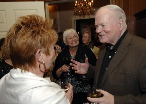Author Pat Conroy mingles with guests at a fundraiser for the USCB Center For the Arts. Photo by Bob Sofaly.