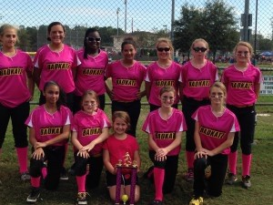 The 12U SC Badkatz placed third in the 14U age division of the WFC National Breast Cancer Swing for a Cure softball tournament from Oct. 18-20 in Summerville.