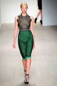 Emerald green is a hot color this fall.