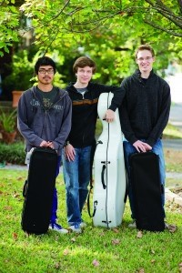 Members of the Beaufort Symphony Youth Orchestra: Willy Spivey, Peter Devyatkin and Luke Emmoth.