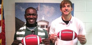 Kentrell Seabrook and Stephen Baggett  of the Beaufort High School football team were recently selected by SC Athletic Coaches Association to participate in the 2013 Touchstone Energy Cooperatives North-South Bowl Game.  The game will be played at Doug Shaw Stadium in Myrtle Beach on December 14.  Congratulations to these two stellar athletes.