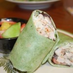 Chicken Salad Wrap with side of fruit