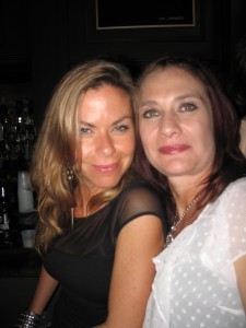 From left: Birthday girl Heather Lalli and Shelley Hickey.