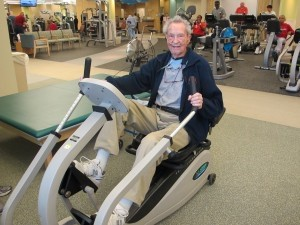 Last Friday was Fred Strong's 99th birthday but it didn't keep him from his regular appointment at LifeFit Wellness Center. The nonagenarian works out three times a week at the Beaufort Memorial medically supervised facility.