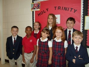 Several Holy Trinity Classical Christian students earned PE Primi recognition for either being the most improved or an outstanding soccer player during the soccer unit. Buck Morris (Kindergarten), Bryar Twitty (1st Grade Hinson), Lilly Cooler (1st Grade Booman), Graison Luby (2nd Grade), Samuel Siler (4th Grade), and Lydia Mahan (6th Grade) were outstanding soccer players for the soccer unit. Corabet Miller (3rd Grade) and Christopher Newnham (5th Grade) were the most improved.