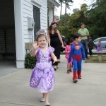 E.C. Montessori students paraded around Celadon Square Friday to celebrate Halloween and the culmination of their cultural study of masquerades around the world.