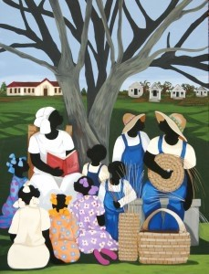 """""""Teaching the Trade"""" by Heritage Days featured artist Cassandra M. Gillens."""