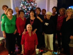 Royal Pines Bunco Babes celebrate at their Christmas party.